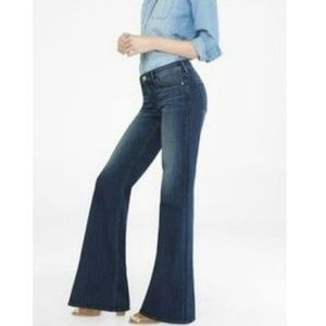 Express Mid-Rise Wide Leg Flare Jean